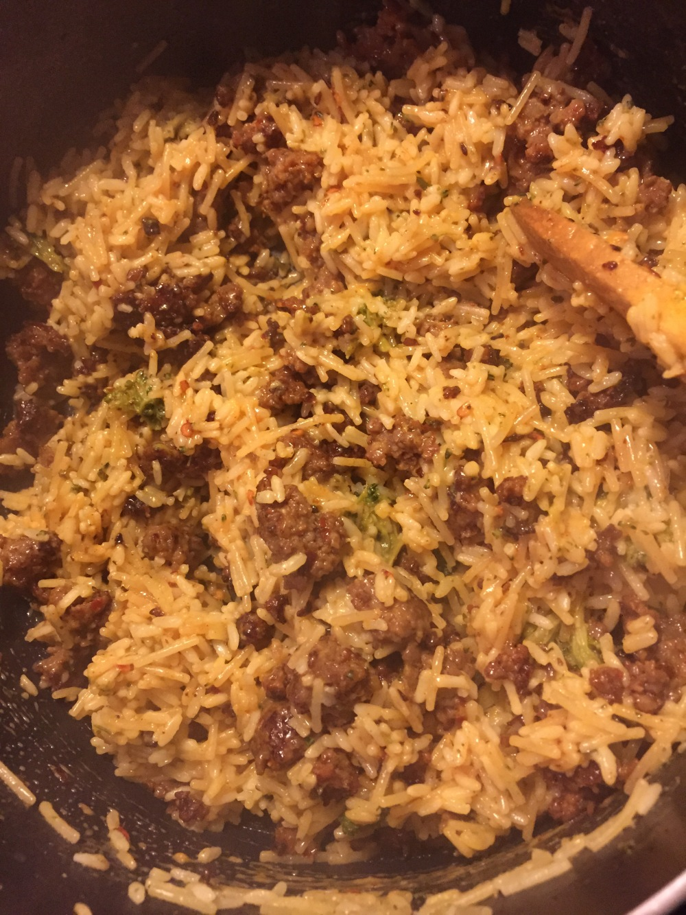 15 Minute Easy Sausage & Rice