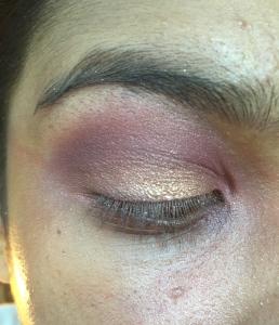 Cranberry Gold Christmas Makeup Look 2015