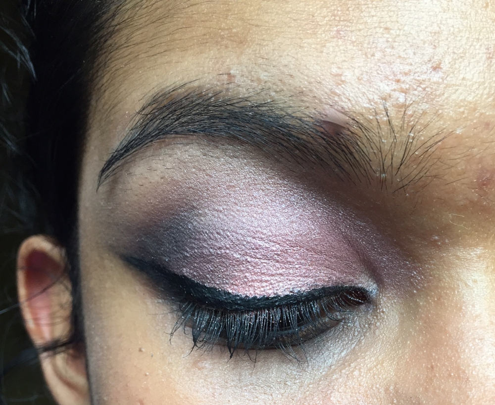 Frosted Pink Smokey Eyeshadow Makeup Look